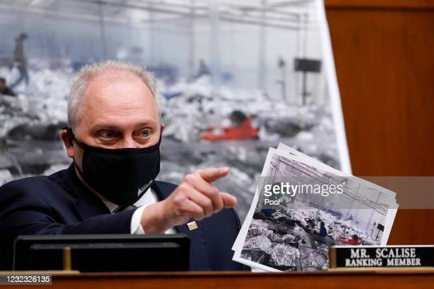 House Minority Whip Steve Scalise, R-La., talks about the border during a House Select Subcommittee hearing on April 15, 2021 on Capitol Hill in...