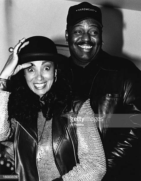 House music pioneer and DJ Frankie Knuckles and MTV VJ Downtown Julie Brown attend an event at the Tribeca Grill in circa 1988 in New York, New York.