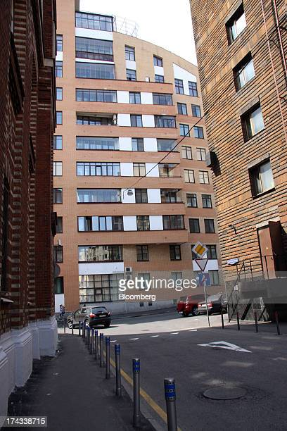 House No 3 center where apartments are for sale at $50 million and $42 million stands on Shvedsky Tupik in Moscow Russia on Friday July 5 2013 House...