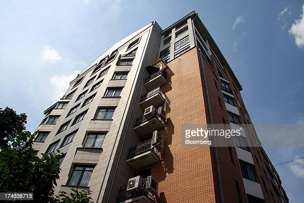 House No 3 where apartments are for sale at $50 million and $42 million stands on Shvedsky Tupik in Moscow Russia on Friday July 5 2013 House No 3 on...