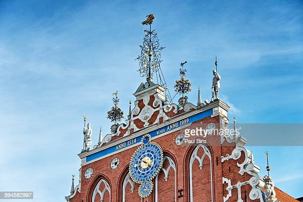 House of Blackheads , roof details, Riga
