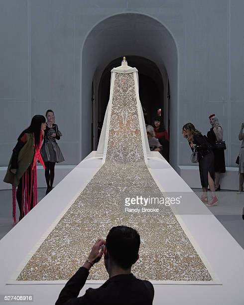 House of Chanel haute couture AW 20142015 center piece during the Manus x Machina Fashion In An Age Of Technology Press Preview at Metropolitan...