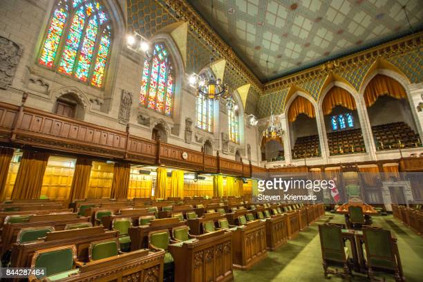 house of commons in the canadian parliament building - election stock pictures, royalty-free photos & images