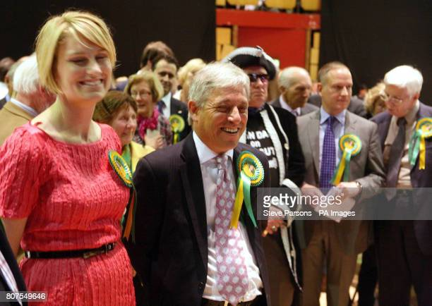 House of Commons speaker John Bercow and his wife Sally at the Aylesbury Civic Centre in Buckinghamshire after he held his seat in Buckingham beating...