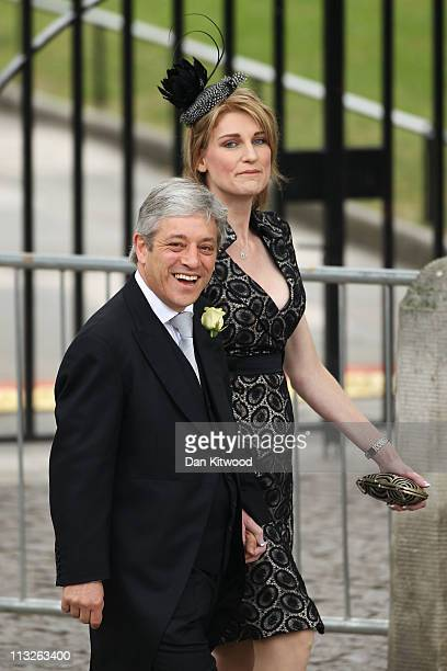 House of Commons Speaker John Bercow and his wife Sally Bercow arrive to attend the Royal Wedding of Prince William to Catherine Middleton at...