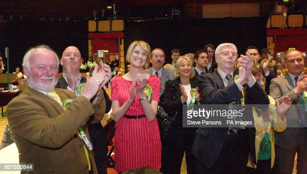 House of Commons speaker John Bercow's wife Sally applauds after he held his seat in Buckingham beating off a challenge by Ukip's Nigel Farage At the...