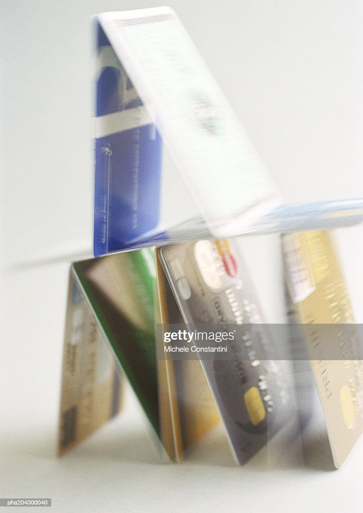 House of credit cards. : Stockfoto