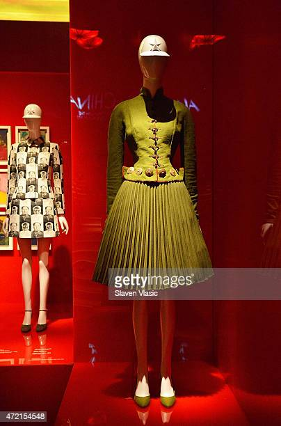 House of Dior John Galliano Ensemble spring/summer 1999 on display at China Through The Looking Glass Costume Institute Benefit Gala Press Preview at...
