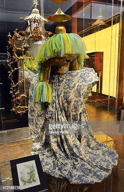 House of Dior John Galliano Ensemble spring/summer 2003 Haute Couture jacket and skirt on display at 'China Through the Looking Glass' press preview...