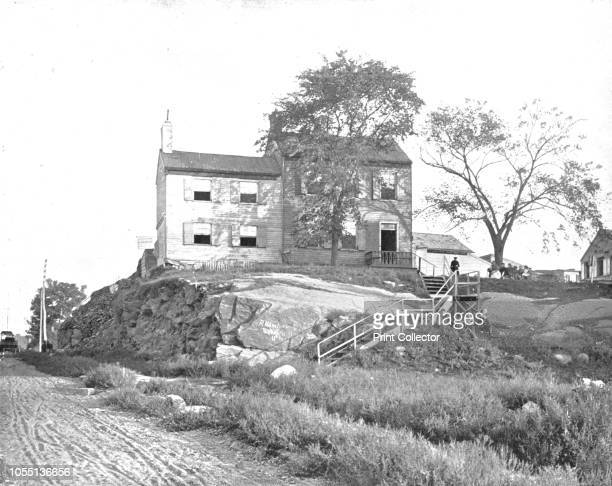 House of Edgar Allen Poe Ravenswood Long Island New York State USA circa 1900 Supposed house of American writer editor and literary critic Edgar...