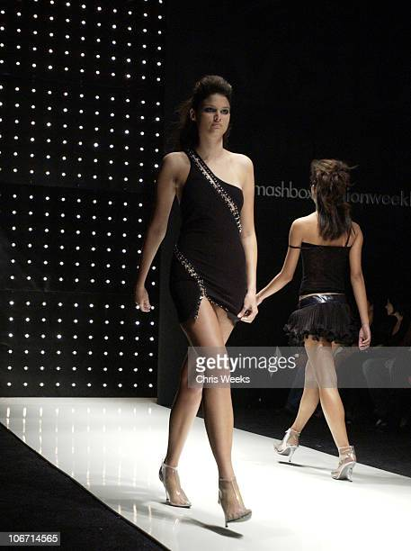 House of Field model with hair by Prive arts during 2003 Smashbox Fashion Week Los Angeles House of Field Collection 2004 Front Row and Show at...