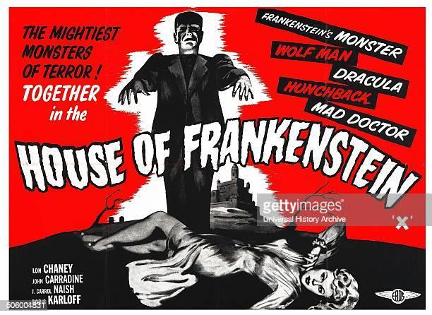 House of Frankenstein 1944 monster omnibus starring Lon Chaney John Carradine J C Naish and Boris Karloff