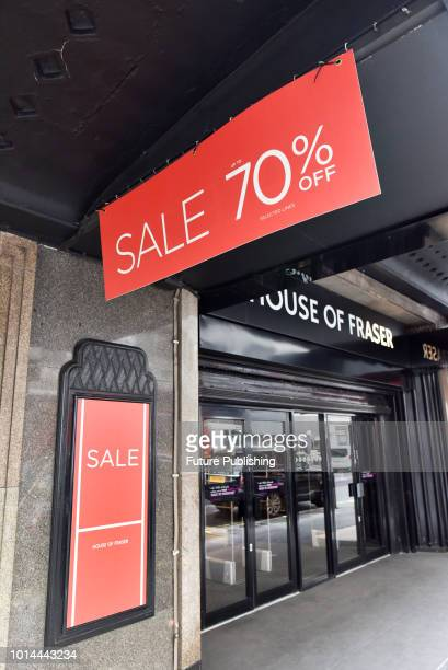 House of Fraser has been bought by Sports Direct for £90 million after going into administration PHOTOGRAPH BY Matthew Chattle / Barcroft Images