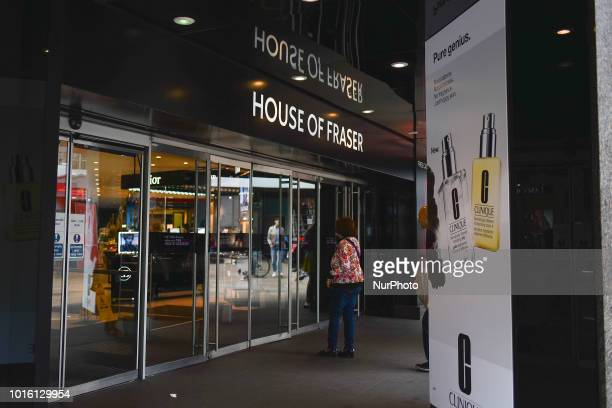 A House of Fraser store is pictured in Central London on August 13 2018 British sportswear retailer Sports Direct has acquired the business and...