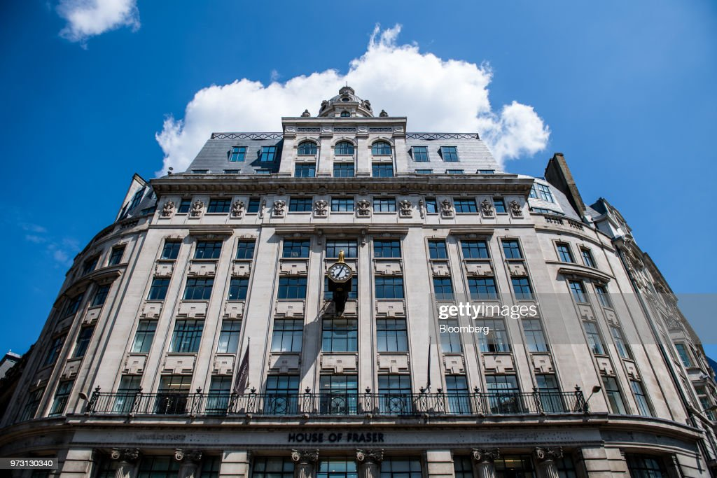 A House of Fraser store, one of the stores slated to be closed, stands on King William Street, in the City of London in London, U.K., on Wednesday, June 13, 2018. U.K. department-store chain House of Fraser said it plans to shut more than half its outlets, putting 6,000 jobs at risk. Photographer: Chris J. Ratcliffe/Bloomberg via Getty Images