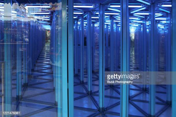 house of mirrors - mirror stock pictures, royalty-free photos & images