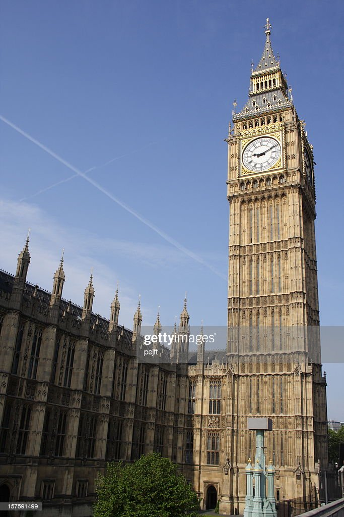 House of Parliament and Big Ben in London, England : Stock Photo