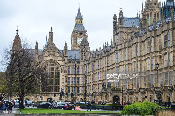 house of parliament - london, uk - monument station london stock photos and pictures