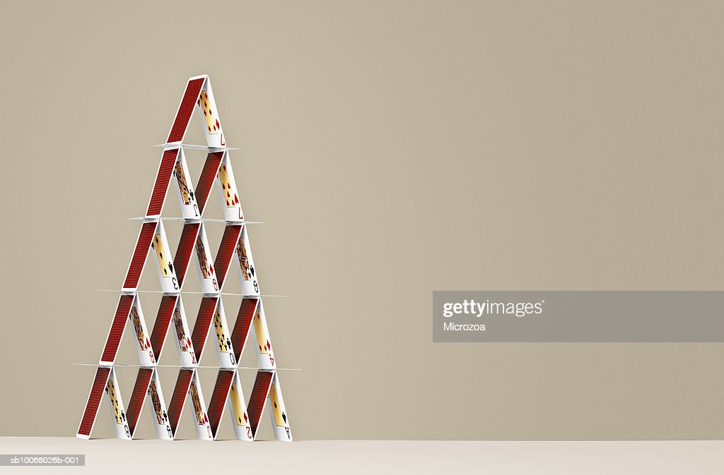 House of playing cards : Stock Photo