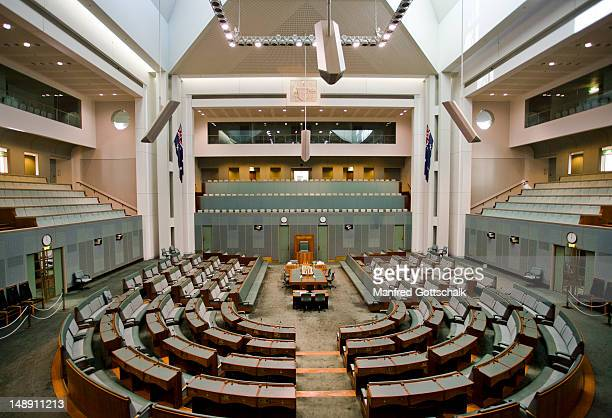 house of representatives at the parliament of the commonwealth of australia. - house of representatives stock pictures, royalty-free photos & images