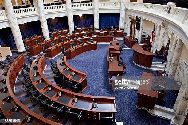 house of representatives chamber idaho state capitol - congress stock pictures, royalty-free photos & images