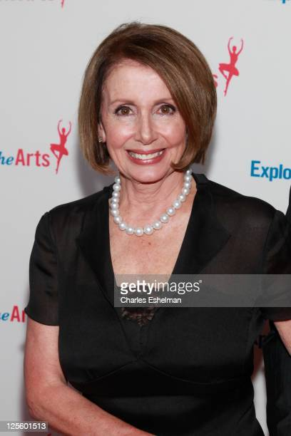 S House of Representatives Minority Leader Nancy Pelosi attends the Tony Bennett 85th birthday gala at The Metropolitan Opera House on September 18...