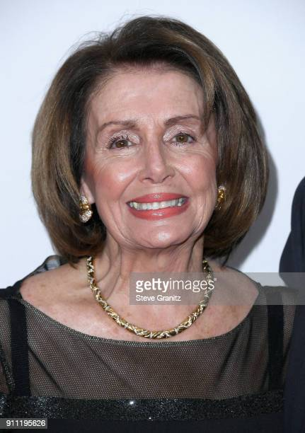 S House of Representatives Minority Leader Nancy Pelosi attends the Clive Davis and Recording Academy PreGRAMMY Gala and GRAMMY Salute to Industry...