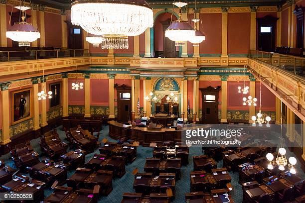 house of representatives of michigan, lansing - lansing stock pictures, royalty-free photos & images