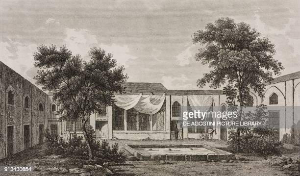 House of the Ambassador in Teheran, Iran, engraving from La Perse by Louis Dubeux , L'Univers pittoresque, published by Firmin Didot Freres, Paris,...