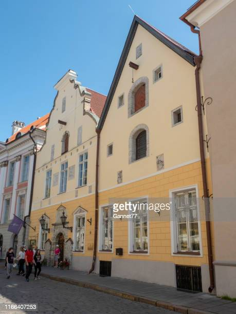 house of the blackheads, old town, tallinn, estonia - blackheads stock photos and pictures