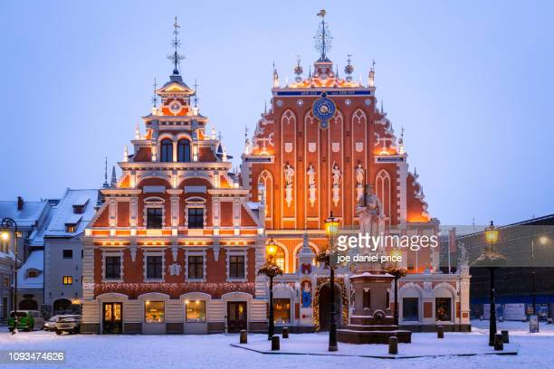 house of the blackheads, riga, latvia - riga stock pictures, royalty-free photos & images
