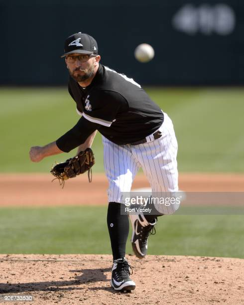 J House of the Chicago White Sox pitches against the Texas Rangers on February 28 2018 at Camelback Ranch in Glendale Arizona