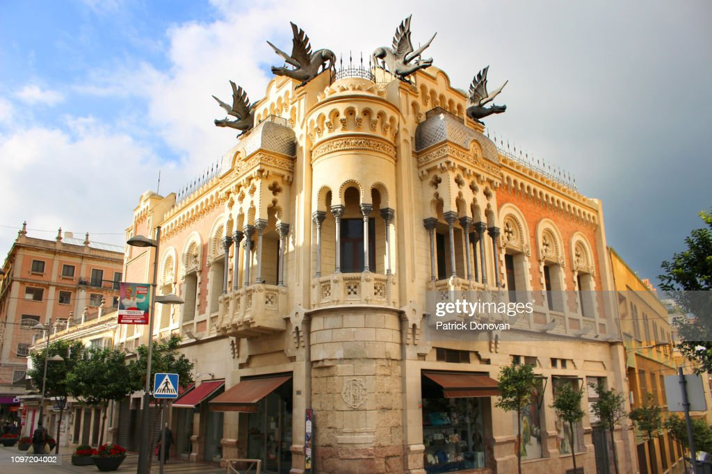 House of the Dragons, Ceuta, Spain : Stock Photo