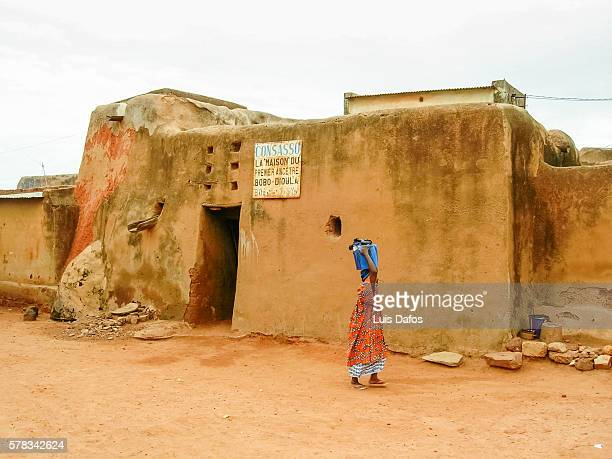 house of the first ancestor, bobo-dioulasso - burkina faso stock pictures, royalty-free photos & images