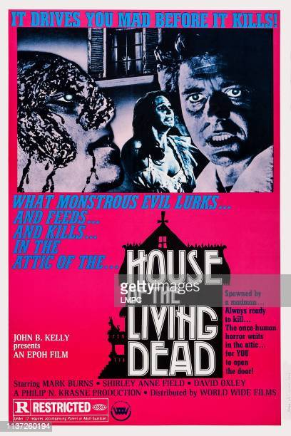 House Of The Living Dead poster US poster from left Shirley Anne Field Mark Burns 1974