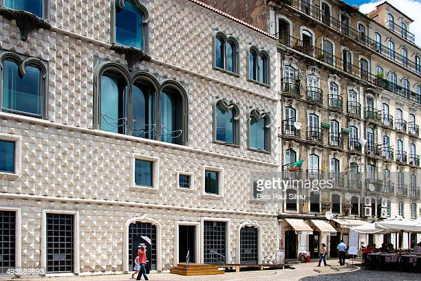 CONTENT] House of the Spikes Casa dos Bicos the pointy diamondshaped stones which cover its facade is a unique architectural gem in Lisbon