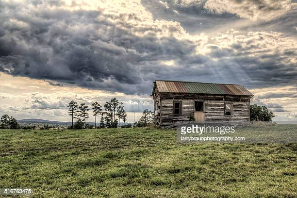 house on a hill - rotten com stock pictures, royalty-free photos & images