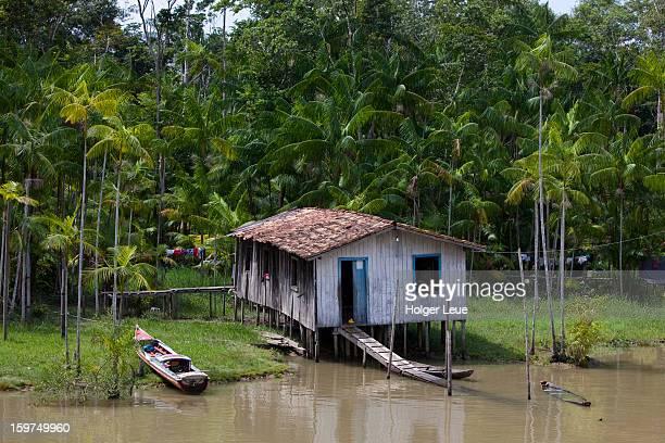 House on Combu Island along Amazon river