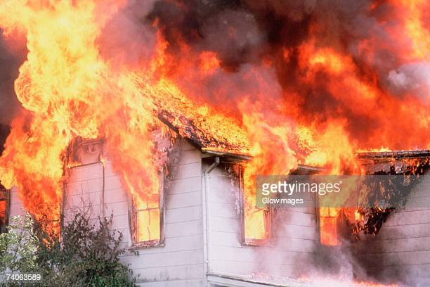 House on fire, Montgomery County, Maryland