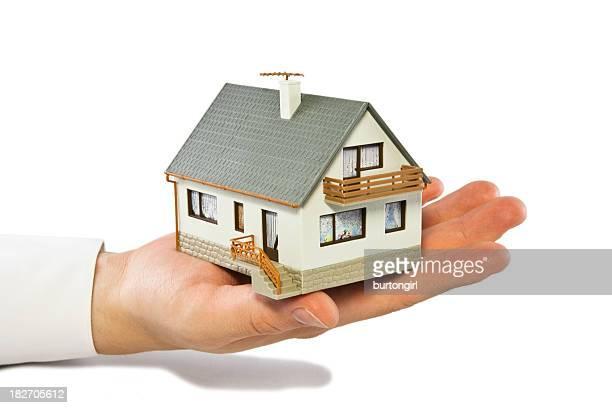 House on men`s hand
