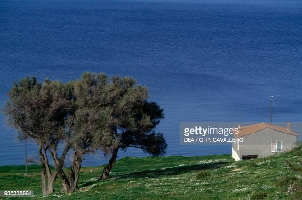 House on the coast near Foca Aegean Turkey