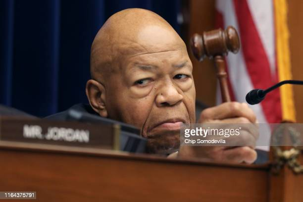 House Oversight and Government Reform Committee Chairman Elijah Cummings holds his gavel as he presides over a hearing on drug pricing in the Rayburn...