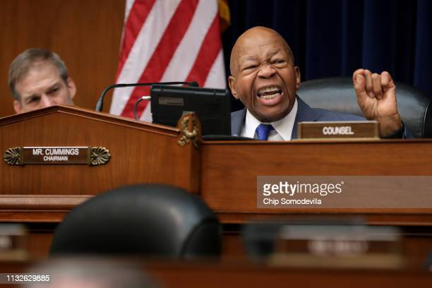 House Oversight and Government Reform Committee Chairman Elijah Cummings makes closing remarks after testimony from Michael Cohen former attorney and...