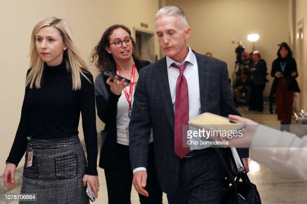 House Oversight and Government Reform Committee Chairman Trey Gowdy leaves a closed-door hearing where his committee and the Judiciary Committee...