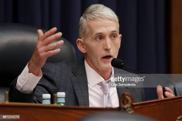 House Oversight and Government Reform Committee Chairman Trey Gowdy questions Deputy Assistant FBI Director Peter Strzok during ajoint hearing of his...