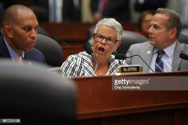 House Oversight and Government Reform Committee member Rep Bonnie Watson Coleman shouts at Chairman Trey Gowdy during a joint hearing of thier...