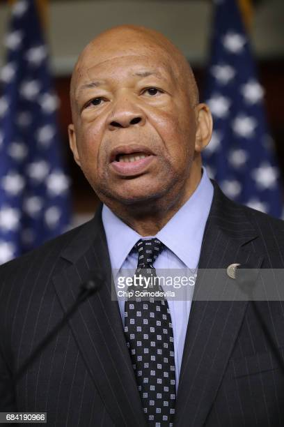 House Oversight and Government Reform Committee ranking member Rep Elijah Cummings speaks during a news conference at the US Capitol May 17 2017 in...