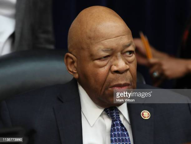 S House Oversight and Reform Committee Chairman Elijah Cummings conducts a hearing on March 14 2019 in Washington DC Commerce Secretary Wilbur Ross...