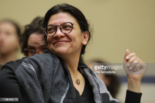 House Oversight and Reform Committee member Rep. Rashida Tlaib attends a hearing about the 2020 census in the Rayburn House Office Building on...