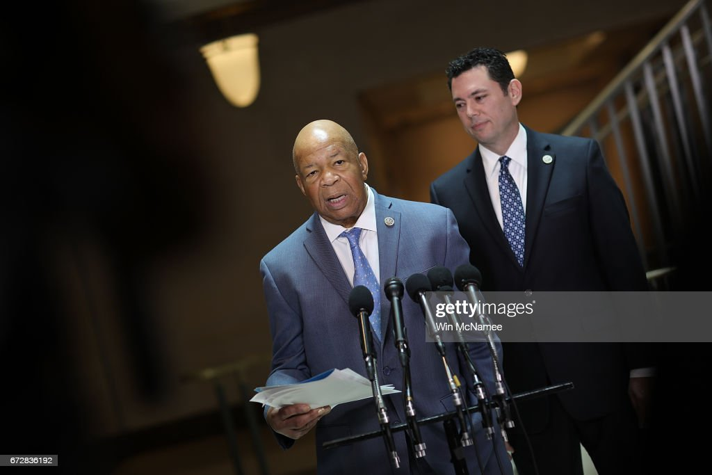 Members Of The House Oversight Cmte Deliver Remarks To Press : News Photo